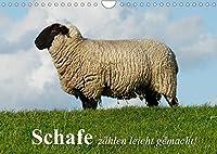 Schafe zaehlen leicht gemacht! (Wandkalender 2022 DIN A4 quer): Idyllische Bilder von schoenen Schafen in der freien Natur (Monatskalender, 14 Seiten )
