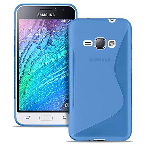 United Case Custodia Protettiva per Cellulare S-Line per Samsung Galaxy J1 (2016) | Blu |
