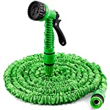 <span class='highlight'><span class='highlight'>Yiyai</span></span> 100FT Expandable Hose Pipe Flexible Garden Water Hose Pipe 7 Pattern Spray Gun with Adjustable Head for Car Washing Garden Watering (Green)