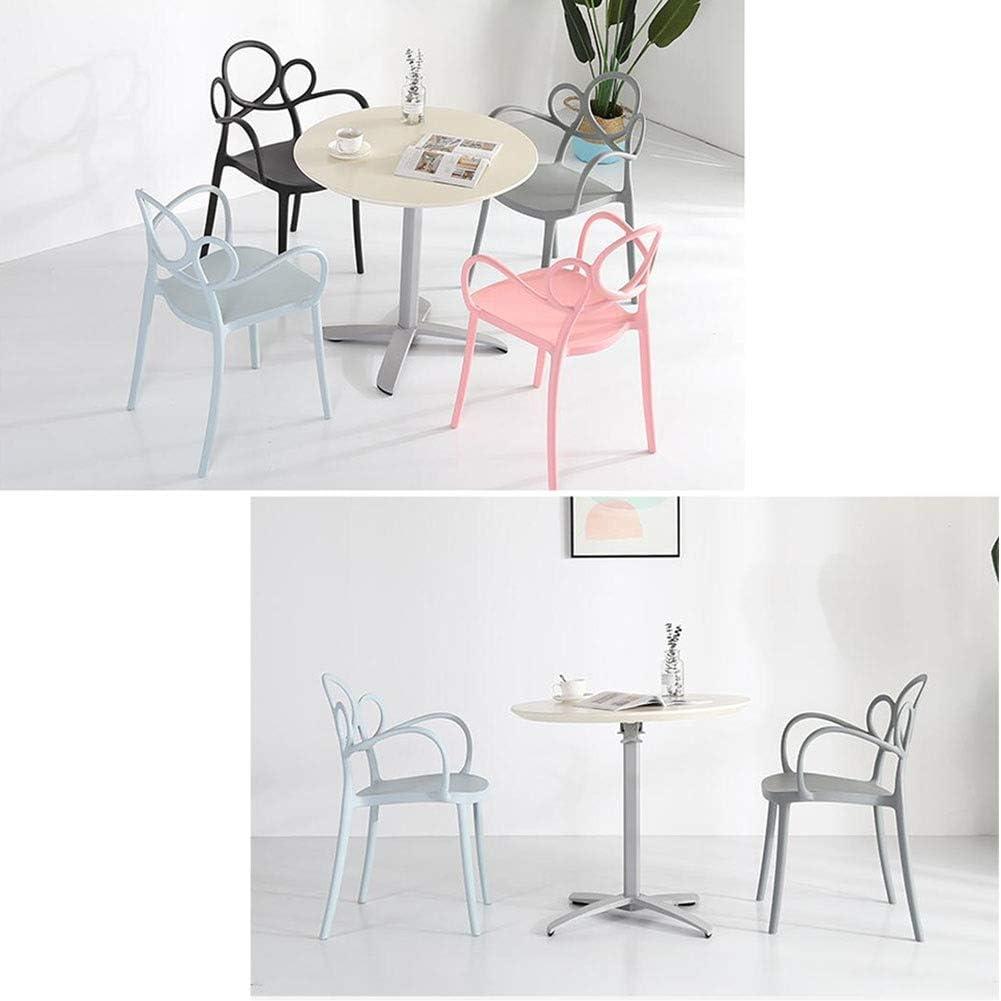 DALL Chaise De Salle À Manger Loisirs Nordiques Chaise De Table Plastique Chaise De Maquillage Fauteuil Dossier Chaise De Café De Restaurant 42X43.5X83cm (Color : Pink) Gray