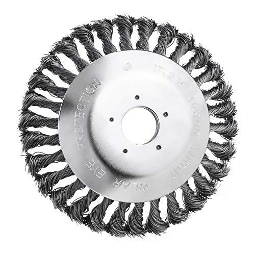 Unkrautbürste freischneider Bodendurchmesser 150 mm Bohrung 25,4 mm Kegelförmig Geknotet Gezopfter Stahldraht für Freischneider Motorsense