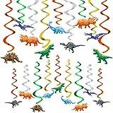 Watercolor Dinosaur Hanging Swirl - 24PCS Dinosaur Party Decorations for Boys Kids Dino Theme Birthday Party Supplies Jurassic World Hanging SpiralGarlands Ceiling Decor