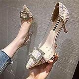 YHCS Femmes de Luxe Pumps 2019 Talons Hauts Transparents Sexy Toe Pointu de Mariage marquée de Mariage Marque Chaussures de Mode pour Femme Taille 34-41