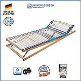 RAVENSBERGER MEDITOP 30-Leisten-Buche-Lattenrahmen | 5-Zonen-Buche-Lattenrahmen | Verstellbar | Made IN Germany - 10 Jahre GARANTIE | TÜV/GS + Blauer Engel - Zertifiziert | 100 x 220 cm