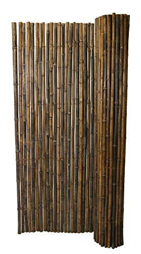 """FOREVER BAMBOO Black Bamboo Fencing, Garden Screen (1"""" D x 6'H x 8'ft L)"""