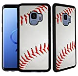 [TeleSkins] - Soft Rubber TPU Case For Galaxy S9 - Baseball - Ultra Durable Slim Fit, Protective Plastic with Soft RUBBER TPU Snap On Back Case/Cover.