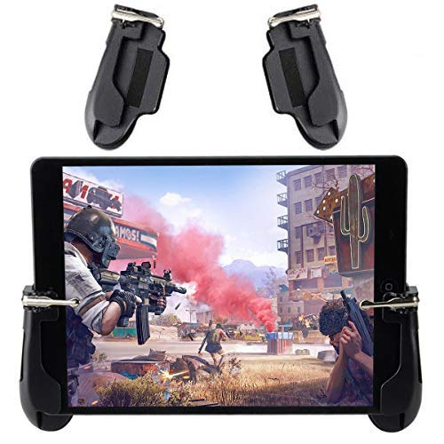 mobile video games Mobile Game Controller for iPad, COCASES Sensitive Shoot Aim Tablet Gamepad Trigger Button for PUBG, Upgraded Version Compatible 4.5-12.9 inch Tablet & Smartphone