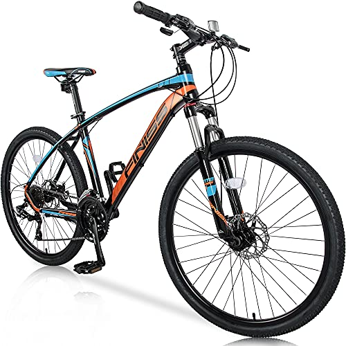 Merax FT323 Mountain Bike 24 Speed Front Suspension Aluminum Frame MTB Bicycle - 26 inch (Blue)