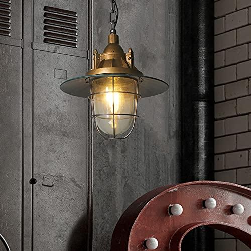 BOTOWI Lámpara Colgante Industrial Retro Americana, iluminación Colgante de Techo Vintage, lámpara de araña rústica, lámpara Colgante, luz Swag, lámpara Colgante, lámpara de Cocina de Dormitorio,13'