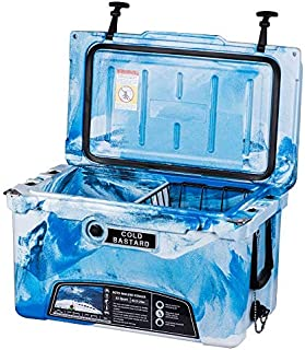 45QT CAMO Ocean Blue Cold Bastard Rugged Series ICE Chest Cooler Free Accessories Free S&H
