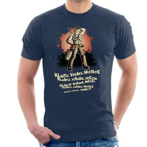 Evil Dead Klaatu Barada Nikto Men's T-Shirt