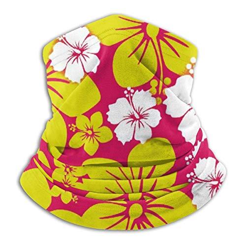 LCYYDECO Hawai Flower Neck Warmer Microfiber Headwear Face Cover Bufanda Talla única