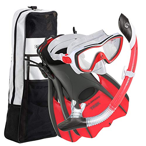U.S. Divers Diva 1 Lx/Island Dry Lx/Trek/Travel Bag ; Now with New and Improved Snorkel Clip