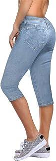 Women's Butt Lift Super Comfy Stretch Denim Capri Jeans