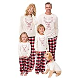 Pijama Familiar de Navidad Invierno Traje de Domir 2 Piezas Pantalon y Camiseta...