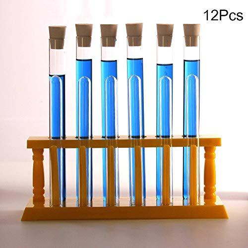 Chemische buis Chemische destillatie Glas Test Tube Laboratorium Verwarming Condenserende Chemische Reactie Buis Met Test Tube Rack (6 * 15ml + 6 * 20ml)