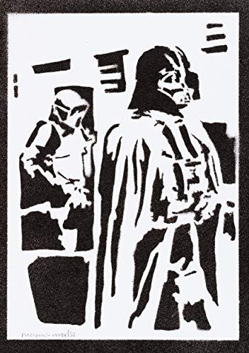 Darth Vader Poster STAR WARS Plakat Handmade Graffiti Street Art - Artwork