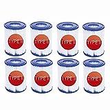 NJYBF Cartuchos de filtro para piscina Bestway II filtro tamaño 2 spa...