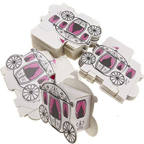 50pcs Candy Box Cinderella Fairytale Princess Carriage Wedding Favour Party Gift