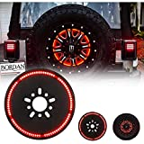 BORDAN Spare Tire Brake Light Third Brake Light Wheel Light LED Ring for Wrangler JK JKU 2007-2017