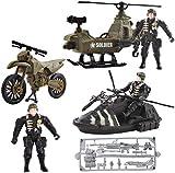 deAO Veicoli da Combattimento Modello Pressofuso su Piccola Scala Figure da Collezione Set di Forze Armate e unità di Difesa Militare