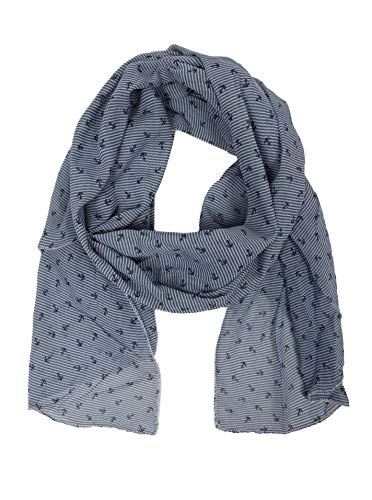Zwillingsherz Seiden-Tuch mit Anker-Print - Hochwertiger Schal für Damen Mädchen - Halstuch - Umschlagstuch - Loop - weicher Schlauchschal für Sommer Herbst und Winter von Cashmere Dreams jns