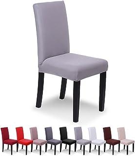 Housses de Chaise de Salle /à Manger Scandinaves 1//4//6 Pieces Housse de Chaise Design Extensible Universelles Amovible Lavable Couverture de Chaise pour Bouquet Maison Mariage R/éunion Beige,1 Piece