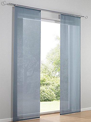 heine home Unifarbener Schiebevorhang mit Flausch+Klettband Petrol Breite 60 cm, Größe:245/60 cm