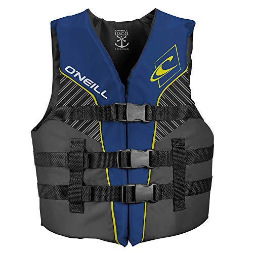 O'Neill Youth Superlite USCG Life Vest, Pacific/Smoke/Black:Yellow, 1sz