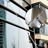 Bidetu Palo telescópico para la limpieza de ventanas, combo de escobilla de goma y limpiacristales, Limpiador de ventanas con barra telescópica/SET B / 2m