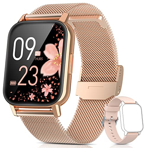 AooDen Smartwatch Damen, 1.69 Zoll Touch-Farbdisplay Fitness Armband mit Pulsuhr Schlafmonitor SpO2, IP68 Wasserdicht Smart Watch Schrittzähler Uhr Damen Sportuhr Aktivitätstracker Android iOS Handy
