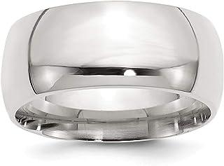 Plata de Ley Anillo De Banda 10Mm Confort de ajuste anillo–tamaño opciones gama: H a Z