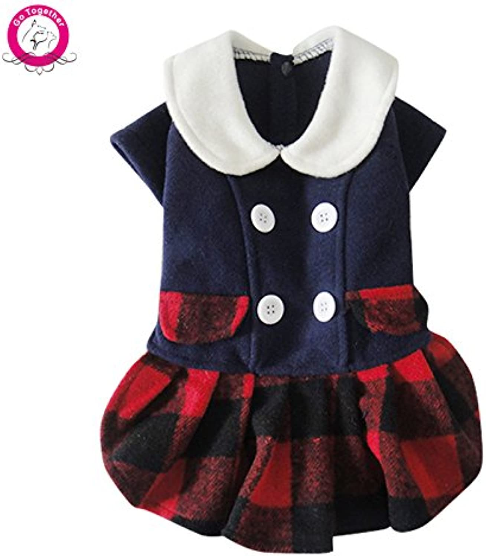 Bosun(TM) Cute Pet Dog Dress Coat Winter Warm Woolen Jacket Clothes for Girl Roupa para cachorro SXL