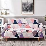 Juego de Fundas de sofá geométricas de algodón elástico Fundas de sofá elásticas para Sala de...