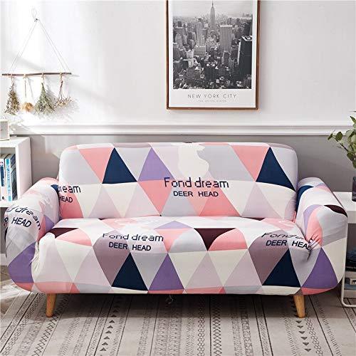 Juego de Fundas de sofá geométricas de algodón elástico Fundas de sofá elásticas para Sala de Estar Funda de sofá seccional de Esquina A21 2 plazas
