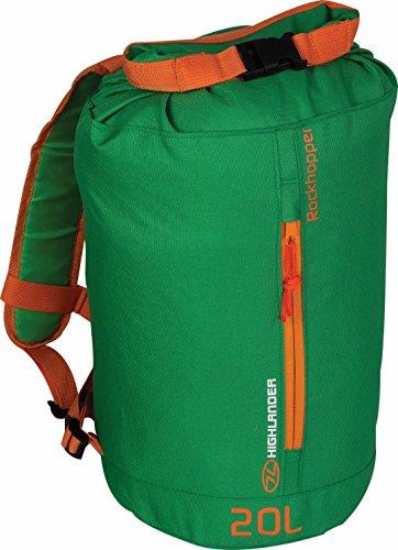 HIGHLANDER Rockhopper Sac à dos 20 l, Mixte, Sac à dos, RUC222-GN-OE, vert/orange, 43 x 23 x 15 cm