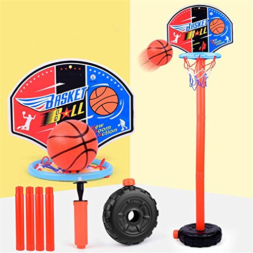CaoDquan Support De Panier De Basket Enfants Sports de Plein air intérieur Jeux réglable Mini Basketball Hoop Stand (Color : Multi-Colored, Size : One Size)