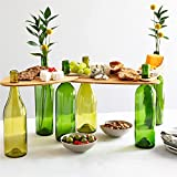 2021 Hot Wine Bottle Topper Serving Tray Set, Wooden Outdoor Picnic Table Charcuterie Board Tray, Charcuterie Board Tray - Snack and Cheese Holder Tray for Wine Lovers