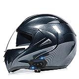 Trenco Modular de Motos,Casc de Moto amb *Bluetooth Integrat *ECE Homologat per a Patinet *Electrico Motocicleta Bicicleta Escúter amb Ulleres de Doble Protecció Dona i Home