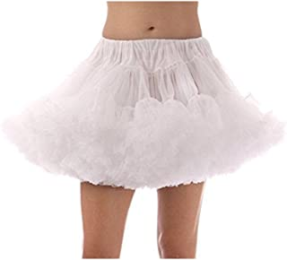 BESTOYARD Women Classic Skirt Swing White Tutu Skirt Petticoat Skirt - Size S-M (White)