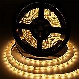 Aigostar - Tira LED de 5 metros, luz cálida 3000K, tira LED flexible, IP65 impermeable. Luces LED autoadhesiva para decorar e iluminar el dormitorio, salón, cocina, el cuarto infantil o muebles.