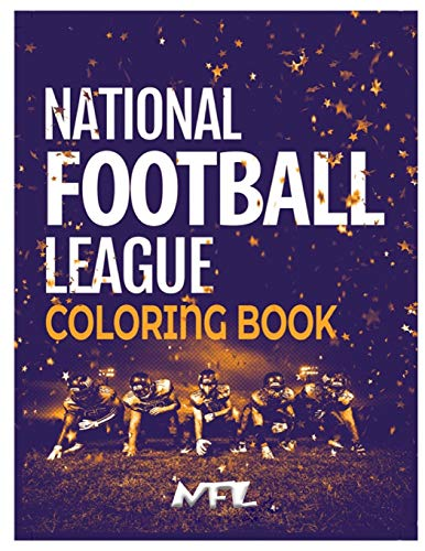 National Football League NFL Coloring Book: 59+ Illustrations (Team Logos and Famous Players)