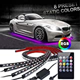 Car Underglow Lights,EJ's SUPER CAR Underglow Underbody System Neon Strip Lights Kit,8 Color Neon Accent...
