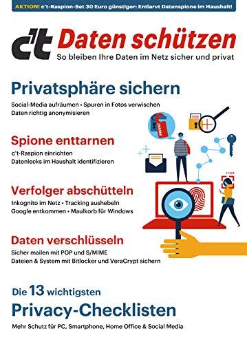 c\'t Daten schützen - So bleiben Ihre Daten im Netz sicher und privat: Rabattaktion - Jetzt 30 Euro günstiger: Mit dem c\'t Raspion Datenspione im Haushalt ... Sie, wie Sie Ihre Daten im Netz schützen.