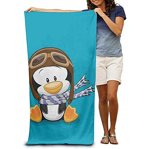 utong Toallas de Playa 100% algodón 80x130cm Toalla de Secado rápido para Nadadores Penguin Beach Blanket