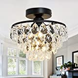 Moderne Klarem Kristall Regentropfen Beleuchtung Unterputz LED Deckenleuchte Leuchte für Esszimmer...