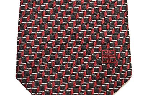 GIVENCHY(ジバンシイ)ネクタイメンズナロータイブランドロゴ総柄(サイズ剣幅6.5cm)egy021J2548-4ブラック×レッド