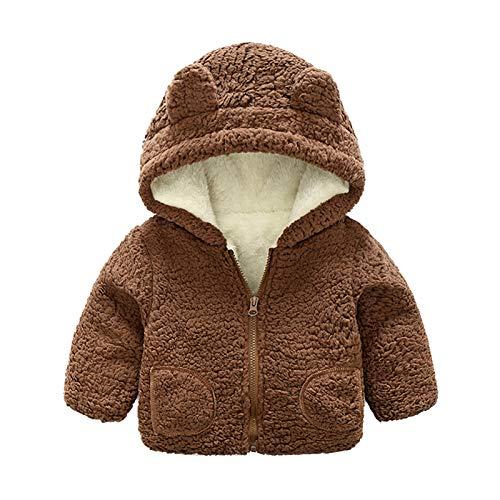 Fulltime (TM) - Abrigo de forro polar para bebés y niñas, resistente al viento, para invierno, grueso, cálido, resistente al viento, ropa de nieve
