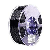 Tickas フィラメント、PETG 1.75mm 3Dプリンターフィラメント印刷消耗品寸法精度:+/- 0.05mm 1kg(2.2lb)スプールマテリアルリフィルソリッドブラック
