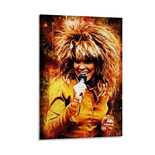 XIAOSHEN Póster de Tina Turner y arte de pared, diseño moderno, 40 x 60 cm